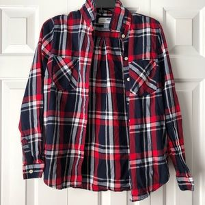 Red, White, & Blue Flannel